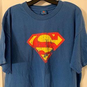 Vintage Superman Logo Tee Sz L